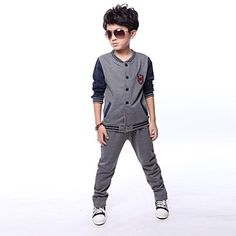 Boy's Fashion And Leisure Long Sleeve Sport Clothing Set – DKK kr. 216