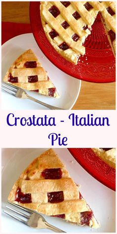 Crostata Italian Pie, a delicious fast and easy dessert or snack recipe,  this delicate flaky crust is filled with your choice of Jam.
