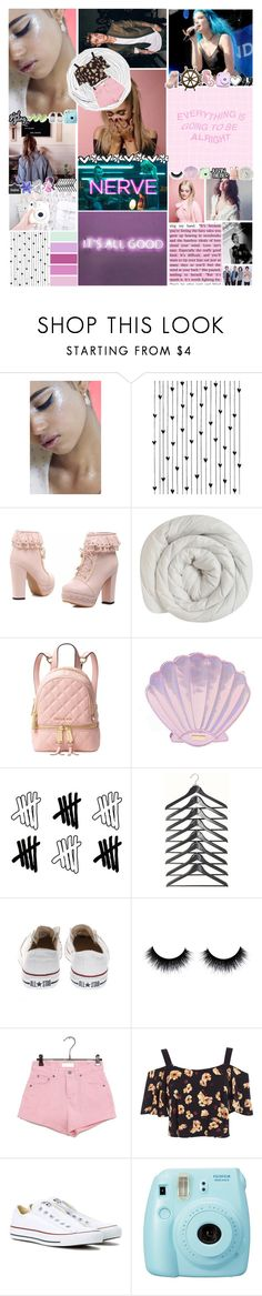 """""""Please stop"""" by focusongigi ❤ liked on Polyvore featuring In Your Dreams, Justin Bieber, Brownstone, Camp, Polaroid, Michael Kors, Authentic Models, Converse, Miss Selfridge and Fuji"""