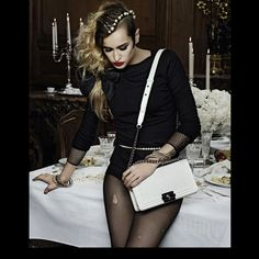 Alice Dellal for Chanel Boy Collection by Karl Lagerfeld