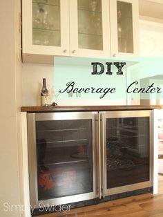 wine fridge, wine bar in kitchen