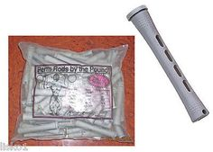 """1 LB BAG, 3"""" LONG GRAY PERM RODS APPROX. COUNT 97, w/ elastic band LMS"""