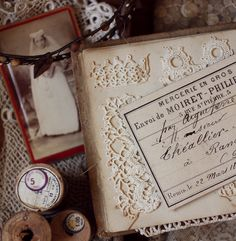 vintage lace + vintage ephemera = beautiful!