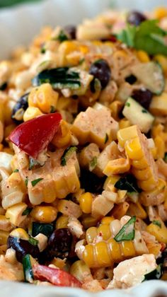 Mexican Corn Salad - The fresh and fantastic flavors in this salad are perfect for any Cinco de Mayo fiesta! de mayo party ideas food appetizers dip recipes Mexican Corn Salad - A Family Feast® I Love Food, Good Food, Yummy Food, Tasty, Mexican Food Recipes, Dinner Recipes, Mexican Dishes, Mexican Corn Salad, Mexican Cheese