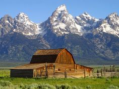 A barn in shadow of the Grand Tetons. Another stop on our 6wk trip when I was 15...beautiful