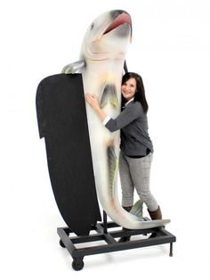 Giant Fish with Blackboard | London Theme | Event Prop Hire