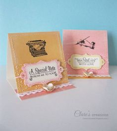 Mini Easel cards by cbuswell - Cards and Paper Crafts at Splitcoaststampers