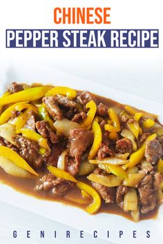 Chinese Pepper Steak is a very fast dinner dish, ready in just 15 minutes, using simple ingredients, this classic dish will be the winner. Steak Recipes, Quick Recipes, Healthy Dinner Recipes, Cooking Recipes, Appetizer Recipes, Balanced Vegetarian Diet, Balanced Meals, Fast Dinners, Easy Meals