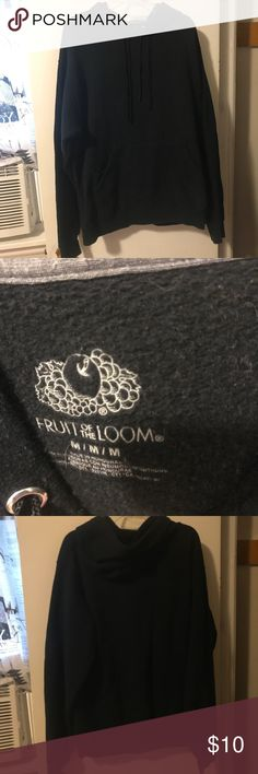 Fruit of the Loom solid black Hoodie/sweatshirt In great condition, perfect for the upcoming fall season! Fruit of the Loom Tops Sweatshirts & Hoodies