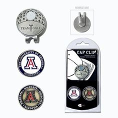 """"""" Team Golf NCAA Cap Clip This stylish cap clip includes 2 double-sided markers and comes in a nickel finish. Team Golf NCAA Cap Clip Features: Double sided ball markers Fits most any brim Powerful magnet holds marker Markers fit all Team Golf Divot Tools"""" #golfshop #golfcenter #golfing #golf #onlinegolfstore"""