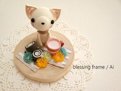 blessing frameのくいりんぐノート:チョコロールケーキとミルク。