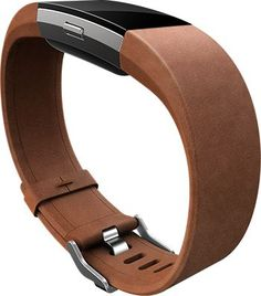06b2f848c7c4 Fitbit - Leather Band for Fitbit Charge 2 (Small) - Brown - Angle Zoom