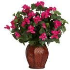 24.5 in. H Green Bougainvillea with Vase Silk Plant