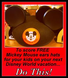 How to get Free kid's Mickey Mouse ears for a vacation (Hint: Do this in February!)