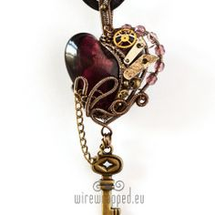 Wire wrapped jewellery - steampunk, goth and other