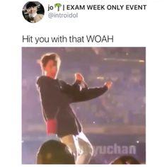 Hit you with that wOaH Bts Memes, Funny Memes, Funny Tweets, Bts Bangtan Boy, Bts Jimin, Jhope, Jung Hoseok, Foto Bts, Btob