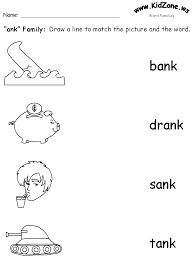 Word families - onset and rime- Kidzone free printables | First ...