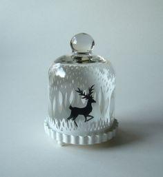 Winter Woods and Reindeer Stag Deer  Original by InTheDarkWoods, £25.00