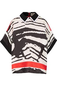 PREEN BY THORNTON BREGAZZI Clyde printed silk top £244 http://www.theoutnet.com/products/502849
