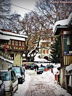 Metsovo,Epirus, Greece Parthenon, Acropolis, Beautiful Streets, Beautiful Places, Places Around The World, Around The Worlds, Greece Pictures, Crete Greece, In Ancient Times