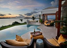 Architecture, Appealing Outdoor Lounge: Amazing Caribbean Villa Design Comes with the Great Idea