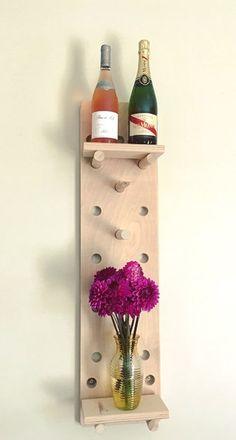Étagère moderne minimaliste de panneaux perforés IRSISdesign | Etsy Wine Rack, Etsy, Home Decor, Minimalist, Handmade Gifts, Decoration Home, Room Decor, Wine Racks, Home Interior Design