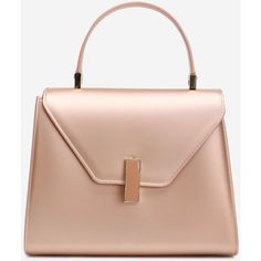 Rose Gold Minimalist Buckled Handbag (59 RON) ❤ liked on Polyvore featuring bags, handbags, tote bags, gamiss, man bag, tote hand bags, rose gold handbag, tote handbags and handbags tote bags