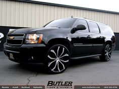So Fresh, So Clean | Chevy Suburban with 26in Lexani Lust Wheels