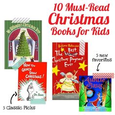5 Christmas classics and 5 soon-to-be classics - adding these to our reading Advent this year.
