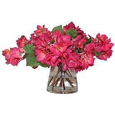 """22"""" Bougainvillea in Vase - Faux Arrangements ($289) ❤ liked on Polyvore featuring home, home decor, floral decor, decorative accessories, pink, flower home decor, handmade home decor, pink home decor and floral home decor"""