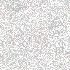 Removable Wallpaper Blossom Print Gray by GailWrightatHome