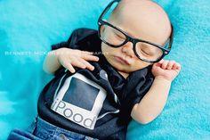 Nerdy baby photos.  Sigh.  Bennett McKinley Photography | www.mckinley-photography.net