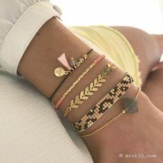 Fishtail Bracelet, Tassel Bracelet, Woven Bracelets, Seed Bead Bracelets, Handmade Bracelets, Handmade Jewelry, Bracelet Set, Swarovski, Bead Jewellery