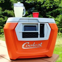 How awesome is the Coolest Cooler for summer picnic dinners? Yes, that's a blender on top.