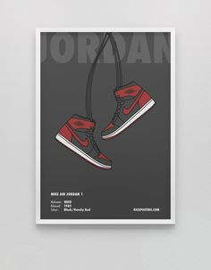 info for 3d82b 368a4 Air History CollectionJordan 1 Bred  Limited to Only 5 Prints   Sneaker  Posters