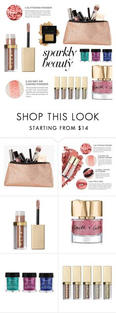 """""""#PolyPresents: Sparkly Beauty"""" by irenewensi ❤ liked on Polyvore featuring beauty, Stila, Smith & Cult, BHCosmetics, Forever 21, contestentry and polyPresents"""