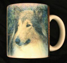 Collie Dog Coffee Mug Cup Ceramic Collectible 1994 Xpres Lassie Barbara Augello