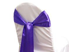 Purple satin sash $1.25