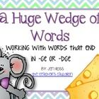 Your students will love learning words with the final /j/ sound!    In this packet there are:  teacher notes for the final /j/ rule  24 word cards  3 di...