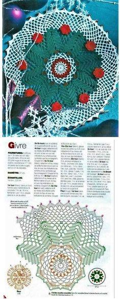 Adornando la Navidad con tapetes y cubremanteles espectaculares | Otakulandia.es Christmas Crochet Patterns, Holiday Crochet, Blanket, Holidays, Xmas, Crafts To Make, Holidays Events, Holiday, Blankets
