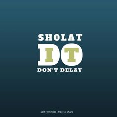Solat : do it on time