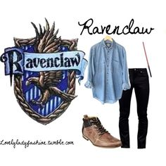 Ravenclaw - Male4 by sad-samantha on Polyvore featuring Steve Madden, Naked & Famous, women's clothing, women's fashion, women, female, woman, misses and juniors