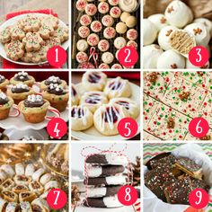 Best Holiday Cookies, Holiday Cookie Recipes, Xmas Cookies, Holiday Baking, Holiday Treats, Christmas Recipes, Buckeye Cookies, Spritz Cookies, Candy Recipes
