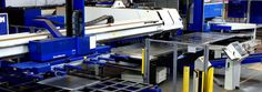Hydram UK - automated trumpf punching and laser combination machine Sheet Metal Shop, Cheap Sheets, Metal Working, Cnc, Shops, Tents, Sheet Metal Work, Metalworking, Retail Stores