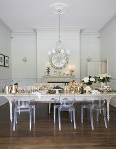 Dining room | Party | Table | Decoration | White | Grand | Beautiful | Livingetc
