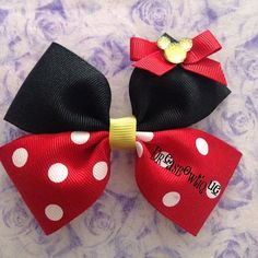 Minnie Mouse Bow by DreasBowtique on Etsy