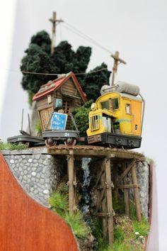 Akiro Morohoshi's micro-sized railway dioramas