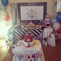 My little boy turned one on the weekend and we had a fabulous time! ⚓️ #nauticalparty#jamesturnsone#iloveplanningparties#instababy