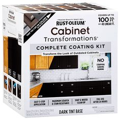 RustOleum Cabinet Transformations kit can be used on a bathroom vanity. See how to paint a navy bathroom cabinet for a fresh makeover. Rustoleum Cabinet Transformation, Cabinet Makeover, Countertop Transformations, Painting Bathroom Cabinets, Kitchen Paint, Home Projects, Kitchen Remodel, New Homes, Dark