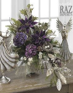 I love the purple and green together!  I could do this!                                                                                                                                                                                 More
